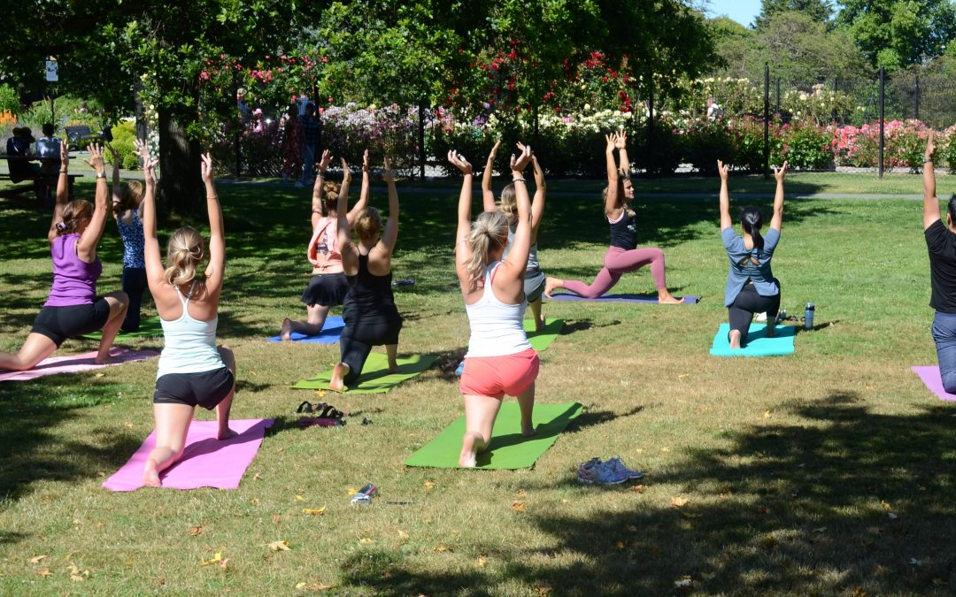 Yoga In The Vineyard At Church & State Winery with Oxygen Saanich