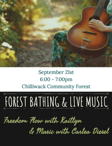 Forest bathing and Live Music Flow – Chilliwack